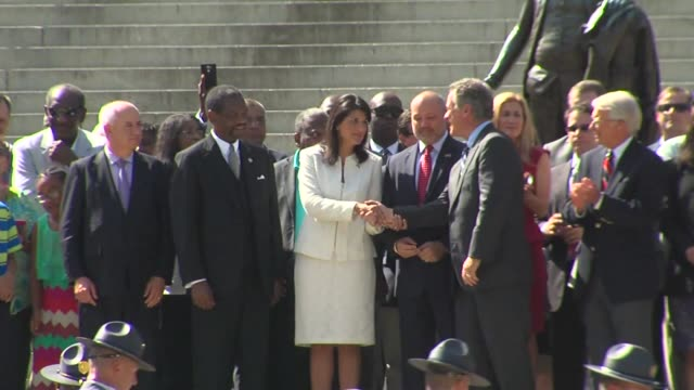 Governor Nikki Haley at Capitol Building After Confederate Flag is Taken Down