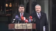 Governor of Istanbul Vasip Sahin and Istanbul's Chief of Police Mustafa Caliskan hold a joint press conference on the capture of Abdulgadir...