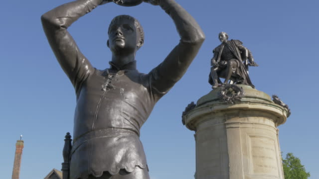 Gower Memorial on banks of River Avon in Stratford Upon Avon, Warwickshire, England, United Kingdom, Europe