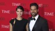 Grace Gail and Adam Rodriguez at 2017 Time 100 Gala at Jazz at Lincoln Center on April 25 2017 in New York City