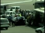 Gracie Attard returns home 2305 JOYCE Air Malta aircraft on tarmac as passengers disembark with Michaelangelo Attard carrying surviving siamese twin...