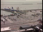 Battle to keep children GV Asda car park PAN RL Asda supermarket LMS Cars parked Dover Docks TGV Docks O ferry 'Pride of Dover' and lifeboats TLMS...