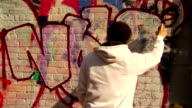 Graffiti Artist Painting Urban Wall