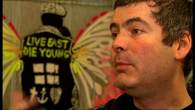 Graffiti artists hold Cans Festival Charles Uzzell Edwards interview SOT [very brief loss of sound at end of interview] Inspired by 1968 Paris riots...