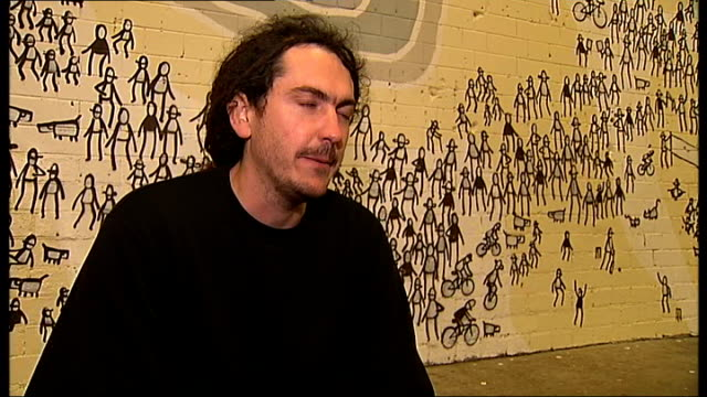 Graffiti artists hold Cans Festival Tom Civil interview SOT On why he is drawn to stencils as a medium / On graffiti as one of biggest art movements...