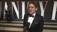 INTERVIEW Graham Moore at the 2015 Vanity Fair Oscar Party Hosted By Graydon Carter at Wallis Annenberg Center for the Performing Arts on February 22...