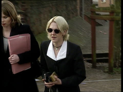 SHIULIE ENGLAND Norfolk Norwich Crown Court Ext Sharon Creed along as arriving at court