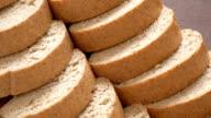 grain bread, close up