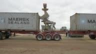 A grain feeder loads barley into a shipping container at a Riordan Group Pty grain depot near Lara Victoria Australia on Tuesday Feb 14 2017