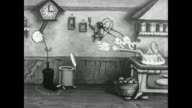 Grampy creates musical inventions in the kitchen as Betty Boop and friends look on