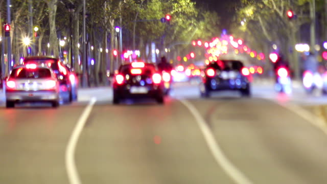 Gran via traffic video, Barcelona