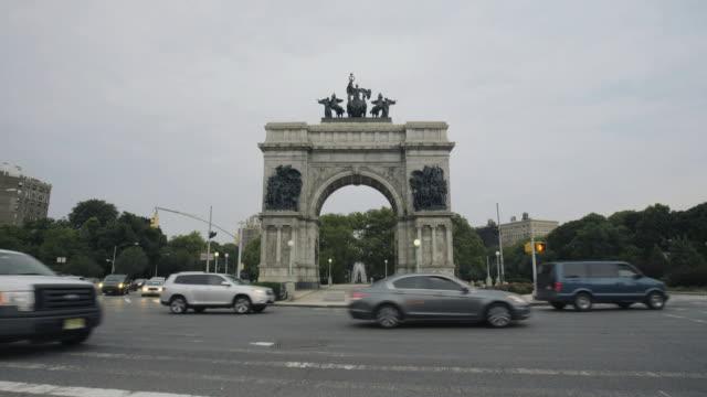Grand Army Plaza establishing shot