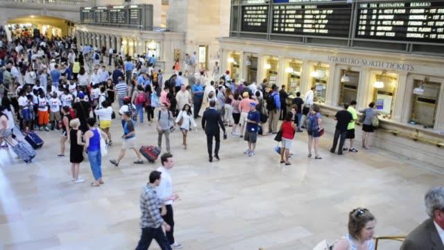 Grand Hall of Grand Central Terminal Midtown Manhattan New York City USA VIDEO Grand Hall of Grand Central Terminal on June 28 2013 in New York City...