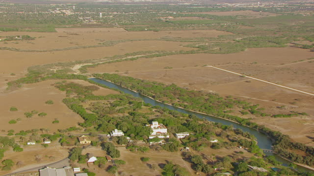 WS AERIAL grand home at King Ranch / Kingsville, Texas, United States