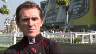 Grand National buildup Interview JP McCoy ENGLAND Aintree racetrack EXT AP McCoy interview on the Grand National and retirement SOT