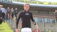 Grand National buildup Tony McCoy looking to win in retirement year ENGLAND Merseyside Liverpool Aintree Racecourse EXT Jockey Tony McCoy down steps...