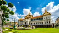 ZO TL WS of Grand Palace famous place in Bangkok, Thailand