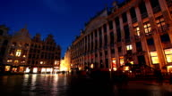 Grand Place from Brussels, time lapse