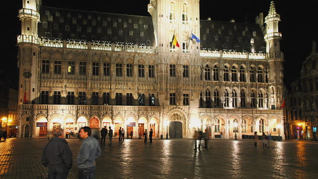 WS T/L Grand Place in downtown / Brussels, Brabant, Belgium