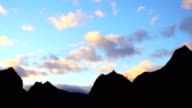 Grand Place in Reunion Island - Sunset horizon.