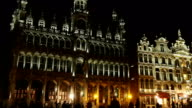 Grand Place of Brussels in night