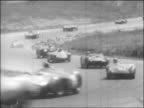Grand Prix Riverside 200 Riverside International Raceway Riverside California high angle LS crowd near parking lot TLS/MSs mechanics and driver...