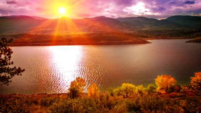 Grand Sonnenuntergang und Natur