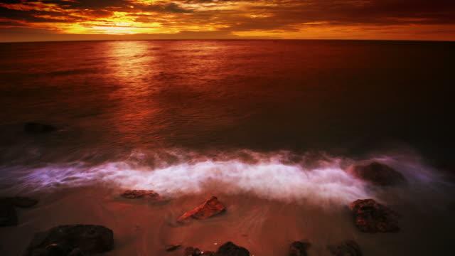 Grand sunset and sea