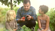 Grandfather and children: explaining agricultural products
