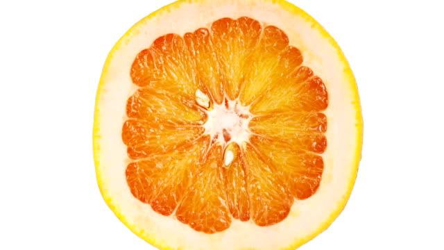 Grapefruit Portion On White