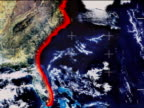 Graphic of destruction a mega tsunami would inflict on the Eastern US seaboard