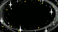 Graphic overlay of twinkling stars - Fill/Matte