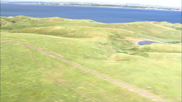 Grassland and Missouri River - Aerial View - South Dakota, Corson County, United States