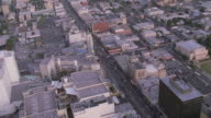 AERIAL Grauman's Chinese Theater and surrounding area / Los Angeles California, United States