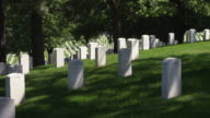 Grave markers in Arlington National Cemetery. Shot in May 2012.