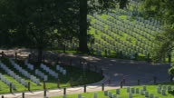 Graves in Arlington National Cemetery, seen from Arlington House. Shot in May 2012.