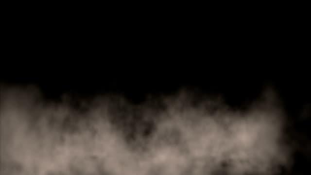 Gray smoke wafts by.