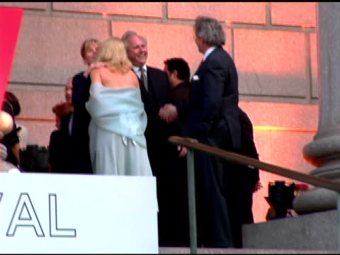 Graydon Carter meeting guests at the 2006 Tribeca Film Festival Vanity Fair Party at State Supreme Courthouse in New York New York on April 26 2006