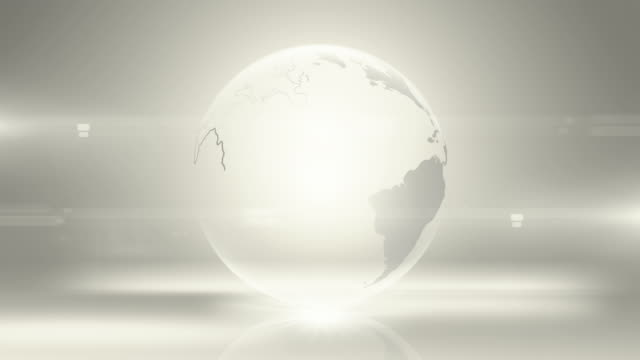 Gray/Silver Globe Gets Generated (centered) - Loopable When Complete