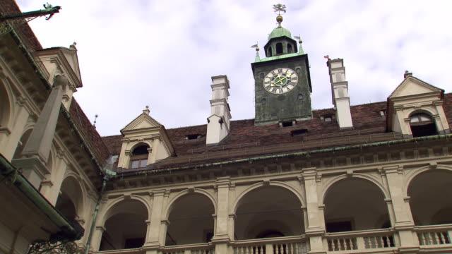 Graz - Clock tower in Arkadenhof Landhaus hof in Graz