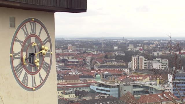Graz - Clock tower in Graz 02