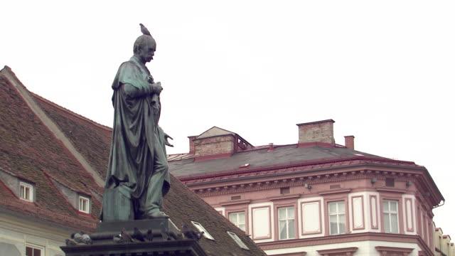 Graz - Pigeon on Archduke Johann Statue in Graz