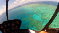 Great Barrier Reef from a helicopter
