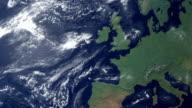 Großbritannien öffnet sich nach Erde zoom (mit alpha-matte)