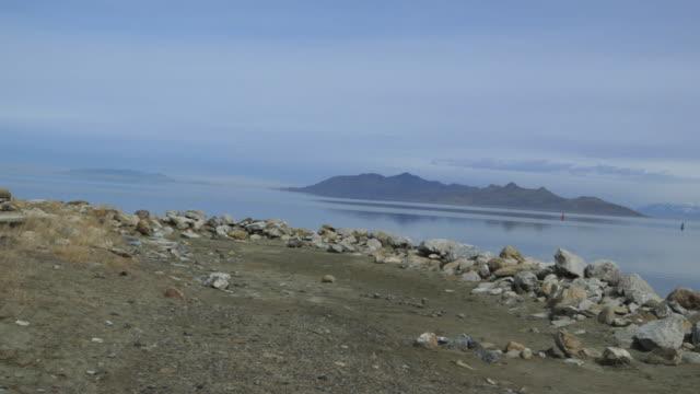 Great Salt Lake, pan right