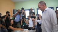 Greece's Finance Minister Yanis Varoufakis casts his ballot in bailout referendum at a polling station in Athens Greece July 05 2015