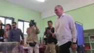 Greek Finance Minister Yanis Varoufakis Sunday accused the eurogroup of using 'terrorism and blackmail' as he cast his vote in the tightly fought...