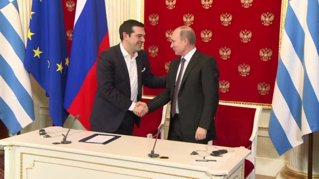 Greek Prime Minister Alexis Tsipras on Wednesday lashed out at EU sanctions against Russia during talks with Kremlin strongman Vladimir Putin in...