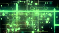 Green Abstract electronic circuits