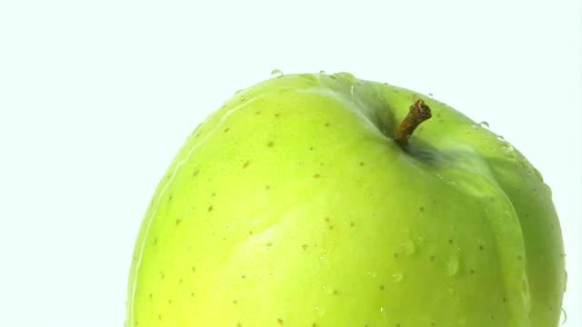 Green apple - water falling down
